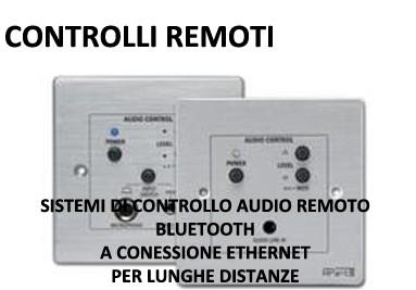 Controlli Remoti audio a Connessione ETHERNET RJ45